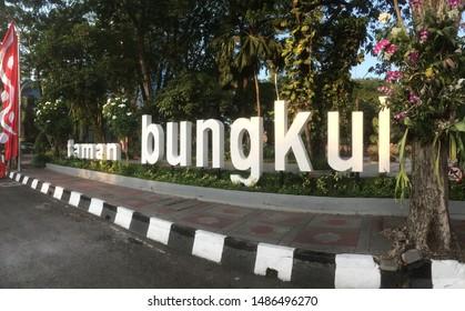 Surabaya, East Java / Indonesia - August 23 2019: Surabaya public park. Taman Bungkul