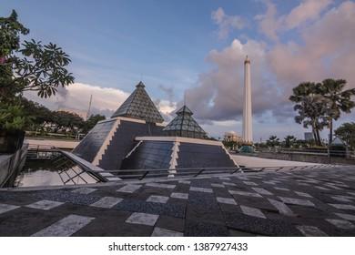 surabaya, east java, indonesia,  may04, 2019 , the heroes monument is monument in surabaya city, east java, indonesia
