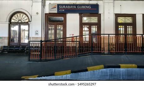 Surabaya, Indonesia - August 13, 2019: Surabaya Gubeng Station