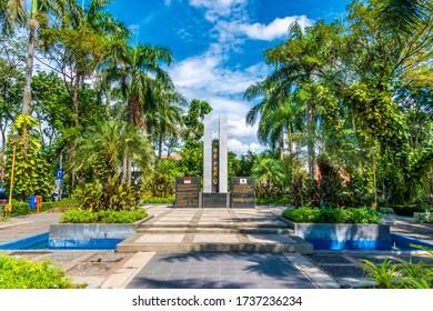 Surabaya / Indonesia - May 31, 2017: Monument of friendship Indonesia - Korea in the city of Surabaya, Indonesia