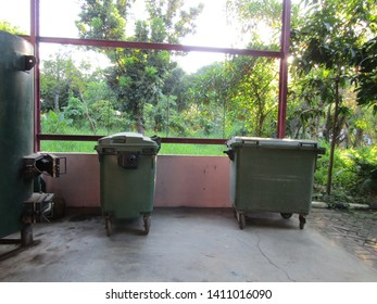 Surabaya, Indonesia - May 7 2019: Room Pembangkit listrik tenaga sampah wonorejo ITS .Set tool unit gasification dump hay helps process the waste recycle power plant energy use for for garden lighting
