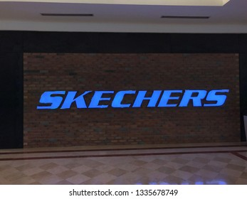 Surai KLCC, Kuala Lumpur, Malaysia - 01 March 2019 - Skechers shop at Surai KLCC shopping mall