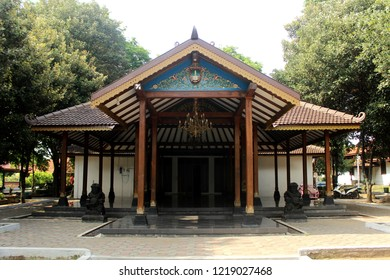 Surakarta Joglo. Traditional house from Solo, Central Java, Indonesia.