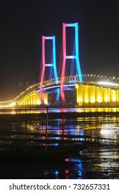 Suramadu Bridge in Surabaya, East Java, Indonesia