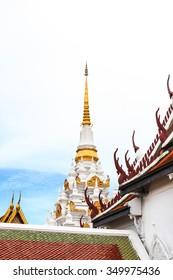 Surat Thani, Thailand - 15 June 2013 : South of Thailand ,Chaiya Temple, The buddhist center of Srivijaya Empire in 18th century B.E.