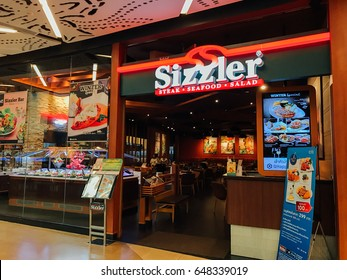 SURATTHANI, THAILAND - FEBRUARY 14: Sizzler Restaurant at Central Plaza Suratthani department store on February 14, 2017 in Suratthani, Thailand.