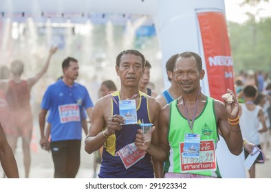 SURATTHANI THAILAND- Jun 28: The marathon running for charity.This marathon for citizenâ??s healthy at Donsak. Jun 28,2015 in surat thani province,Thailand