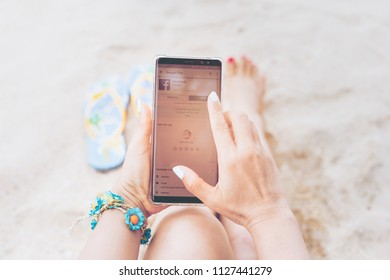 Iphone On The Beach Images Stock Photos Vectors