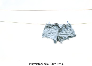 Surburban Clothes on Line Denim Shorts