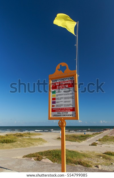 Surf Flag Warning System Surf Conditions Stock Photo (Edit