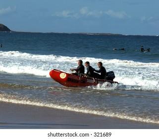 Surf rescue practice