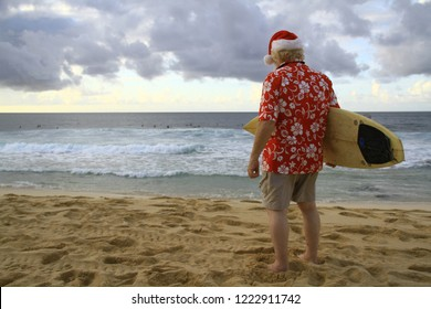 Surf Santa on Beach