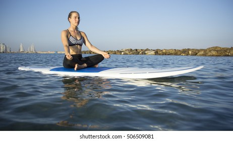 Surf Yoga woman exercise