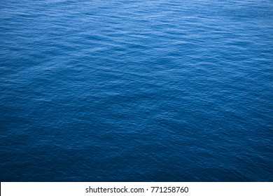 The surface of the blue sea.