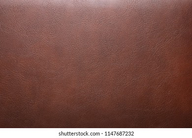 Surface of brown leatherette texture for background and empty space for text.