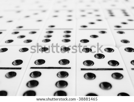 Surface Covered Gray Dominoes Bones Close Stock Photo (Edit
