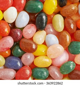 Surface covered with jelly beans
