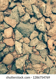 surface of gravel in vitage
