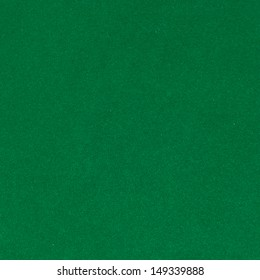 Surface of green velvet cover on the pool table
