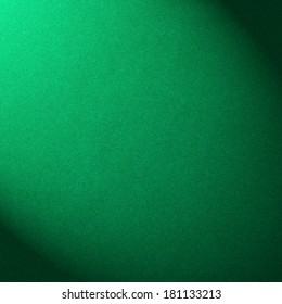 The surface of the green velvet cover on the pool table
