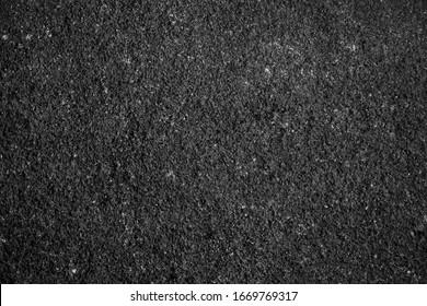 Surface grunge rough of asphalt, Seamless tarmac dark grey grainy road, Driveway texture Background, Top view