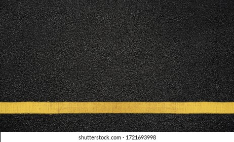 Surface grunge rough of asphalt, Seamless tarmac dark grey with yellow line on the road and small rock, Texture Background, Top view - Shutterstock ID 1721693998