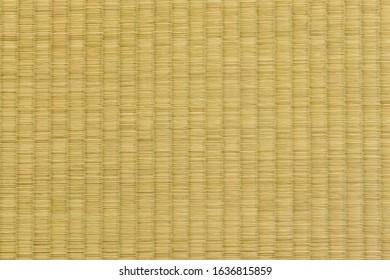 Surface of Japanese tatami mat