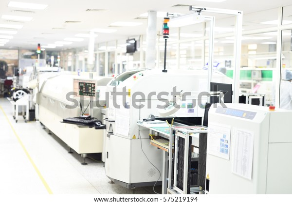 Surface Mount Technology Assembly Line Called Stock Photo