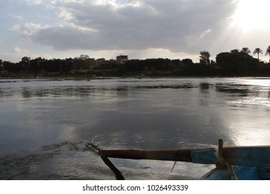 The surface of the Nile river