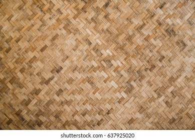 surface old basketry made from bamboo for background and texture
