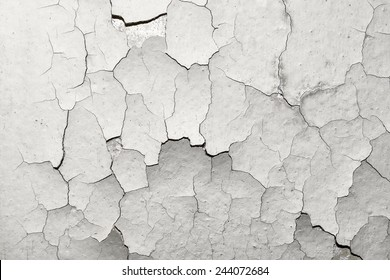 surface with old cracked paint