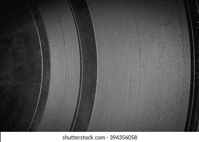 The surface of the old vinyl record