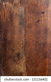 Surface of the old wooden planks oak kitchen board