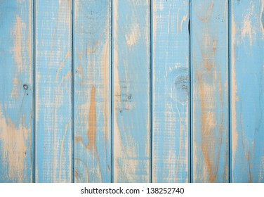 Surface of painted shabby wood
