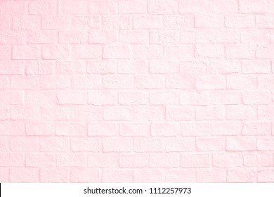 Surface Pink Pastel Brick Wall Texture For Wallpaper And Background