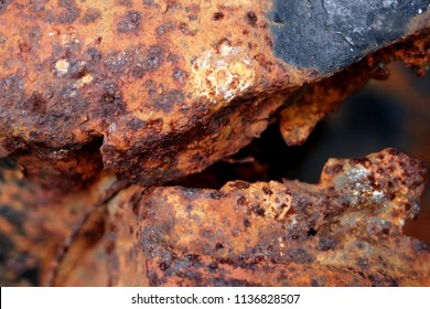 Surface rust on the surface, blue