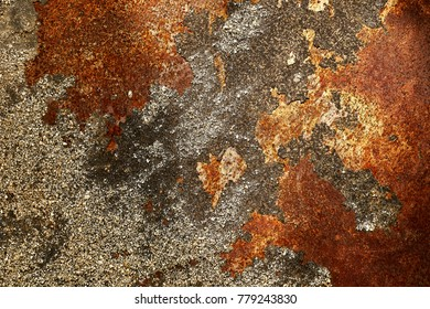 Surface of rusty iron, rusty metal background, texture, wallpaper