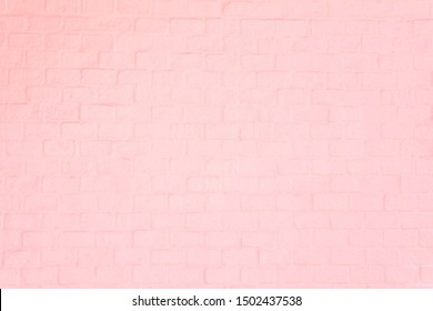 Surface soft pink brick wall texture for background.
