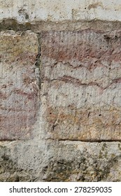the surface of a stone wall, texture