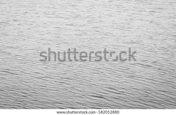 surface texture of water in river in black and white tone
