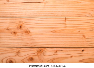 Surface of three planed boards.
