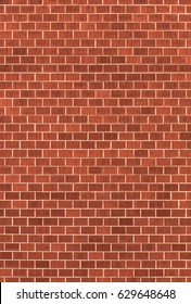 Surface of a wall made of brown bricks background/texture.