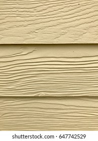 The surface of the wooden walls painted cream 3 sheets with copy space. Long lasting concept
