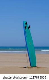 Surfboard on Agadir beach