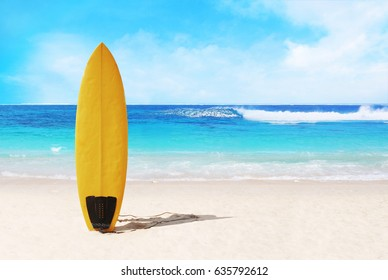surfboard on the beach