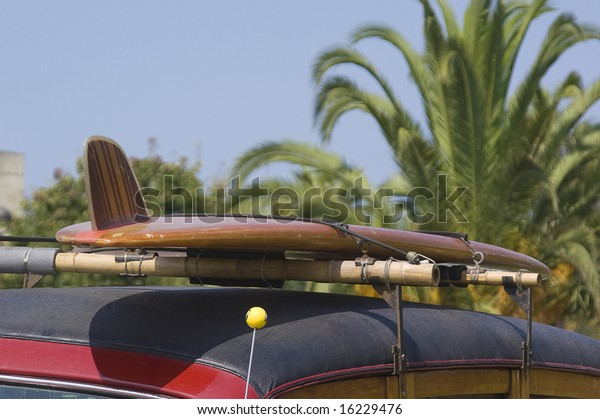 Surfboard On Car Miscellaneous Stock Image 16229476
