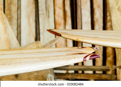 Surfboard Workshop Balsa Wood And Finished Boards
