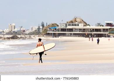 Surfer at Currumbin