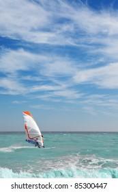 Surfer on the sea