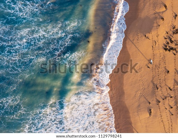 Surfer picking his waves in Warrnambool